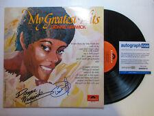 Dionne Warwick Signed Autographed 'My Greatest Hits' Vinyl Album LP PROOF ACOA