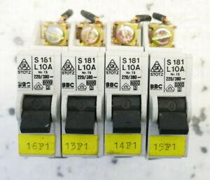 4x BBC STOTZ S181 L10A (220/380~) LEITUNGSSCHUTZSCHALTER - set of 4