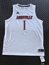 Adidas NCAA Louisville Cardinals Basketball SWGM Jersey #1 White Mens Size XL