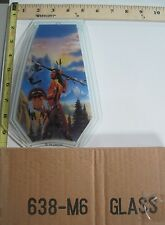 FREE US SHIP OK Touch Lamp Replacement Glass Panel Native American Wolf 638-M6