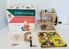 ^Vintage 50'S? Singer Sewhandy Childs Sewing Machine W/ Orig Box & Instructions