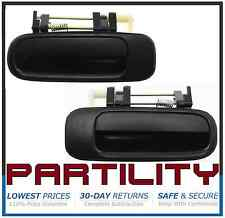 New 92-96 Camry Black Outside Exterior Door Handle Right & Left Rear PAIR Set