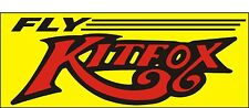 A085 Fly Kitfox Airplane banner hangar garage decor Aircraft signs