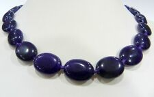 """13x18mm Amethyst Gemstone Oval Beads Necklace 18"""" AA"""