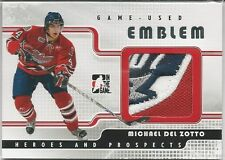 Michael Del Zotto 2008-09 ITG Heroes And Prospects Emblems Silver # GUE12 4/9