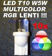 10 Lampadine LED RGB MULTICOLOR LENTI T10 W5W TRICOLOR