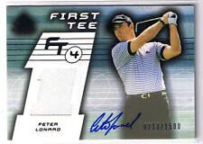 PETER LONARD 2003 UD SP GAME USED AUTOGRAPH SHIRT # 213/1500 PGA