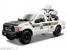 Maisto 1 24 Scale 1999 Police Ford F350 and Harley Davidson 2004 FLHTPI Electra