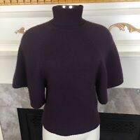 AG ADRIANO GOLDSCHMIED Anthropologie XS Purple Turtleneck Flare Cashmere Sweater