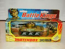 Matchbox Battle Kings Sherman Tank Gold USA 48350 Labels NMIB