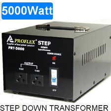 5000W STEPDOWN TRANSFORMER STEP DOWN 240V - 110V BLACK