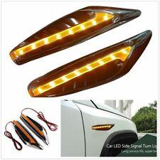 1Pair Universal Yellow Blade Car Steering Light Car Led Turn Signal Side Lights