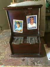 Early wood case card vender