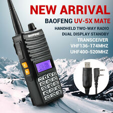 Baofeng UV5Xmate Handheld Ham Two-way Radio+ Earpiece+ Belt Clip+ Program Cable