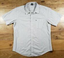 Krew Men's Short Sleeve Button-Down Striped Shirt Size XL