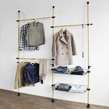 SoBuy® Adjustabl Telescopic Wardrobe Organiser, Storage Hanging Rail,FRG106, UK