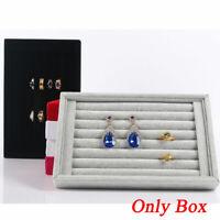 rectangle accessoire display titulaire les bijoux ring. les créneaux de velours