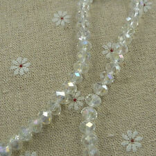 400pcs clear AB glass crystal Faceted Rondelle loose bead 8mm ZH236