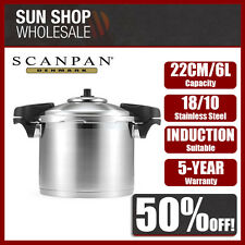 100% Genuine! SCANPAN 22cm 6 Litre Stainless Steel Pressure Cooker! RRP $369.00!