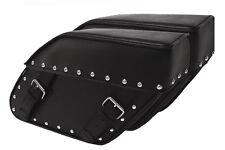Slanted Studded Motorcycle Saddlebags Set Model 110S - USA FREE POSTAGE