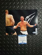 Nate Diaz 8X10 Signed UFC Photo vs Conor McGregor w Proof Beckett Authenticated