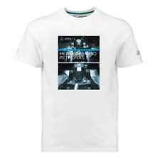 Mercedes AMG Petronas F1 Mens T-Shirt Official Size XXL Hamilton Bottas White