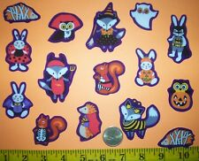 New! Halloween Forest Animal's Custom Party Iron-on Fabric Appliques ~ Iron ons
