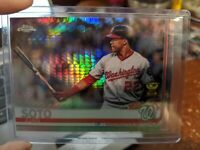2019 Topps Chrome Juan Soto Prizm Refractor Nationals Gold Cup