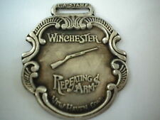 Winchester Repeating Arms Watch Fob Silver Antique Patina