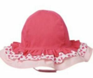Gymboree Pretty Poppy Hat 4T-5T Pink Shabby Chic Ruffled