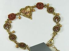 Pilgrim Armband, Armkette, Schlange,Modeschmuck,Schmuck,Armschmuck,Herz,Rot,Rose