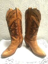 Vintage Miss Capezio Butterfly Cowboy Cowgirl Boots Size 7 1/2