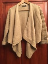Womens Cardigan Size 10 Crop Drop Front 3/4 Sleeves (B11)