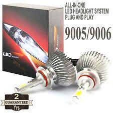 2016 60W 9005 LED Headlight 9006 Headlamp 6000lm Vehicle Beam Bulb Kit 6000k
