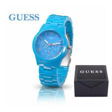 GUESS Damenuhr Armbanduhr in Blau aus Kunststoff mit Datumsanzeige Uhr W11603L5