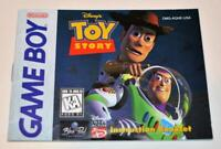 MANUAL ONLY Toy Story Original Nintendo Gameboy Instruction Booklet