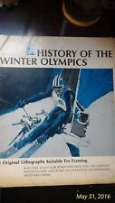 History of The Winter Olympics (Lake Placid, 1980) 11 Original Lithographs