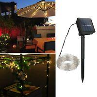 Solare 200 LED di rame filo fata stringa luce prato lampada per giardino esterno