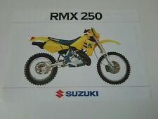 Prospectus Catalogue Brochure Moto Suzuki RMX 250 1990