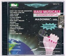 BASI MUSICALI IN TONALITA' ORIGINALE MADONNA  vol. 6 CD F.C. SIGILLATO!!!