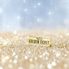 Golden Ticket Pin | Roald Dahl | Charlie and the Chocolate Factory | Willy Wonka