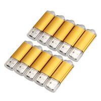 1X(10x 512MB Speicherstick USB Stick U Disk Flash Driver USB 2.0 Gold B4V9) XOL