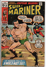 Marvel Comics  The Sub-Mariner #30 1970 Namor vs Captain Marvel VF-