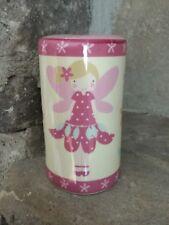 SALE Gisela Graham Fairy pink ceramic cylinder money box