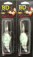 (2) CASTAIC BOYD DUCKETT BD SERIES CRANKBAITS BDC12  Green Gizzard Shad