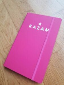 KAZAM pink notebook