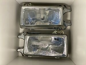 Set Of NOS New Hella Euro Audi B2 Ur Quattro, 80, 90, 4000 & Coupe GT Headlights