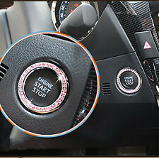 Pink Car SUV Decorative Button Start Switch Diamond Ring Auto Accessories New