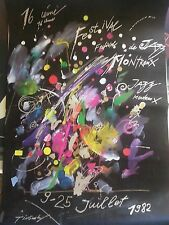 montrenx jazz festival silk screen 27x38 original signed poster montreal
