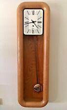 Mid century Howard Miller Arthur Umanoff Pendulum Mantle  Wall Clock - Oak Case